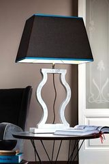 Large gray marble lamp with amphora shape. Matlight.