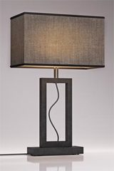 Medium Contemporary Gray Marble Lamp. Matlight.