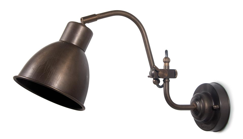 Applique architecte en laiton antique . Moretti Luce.