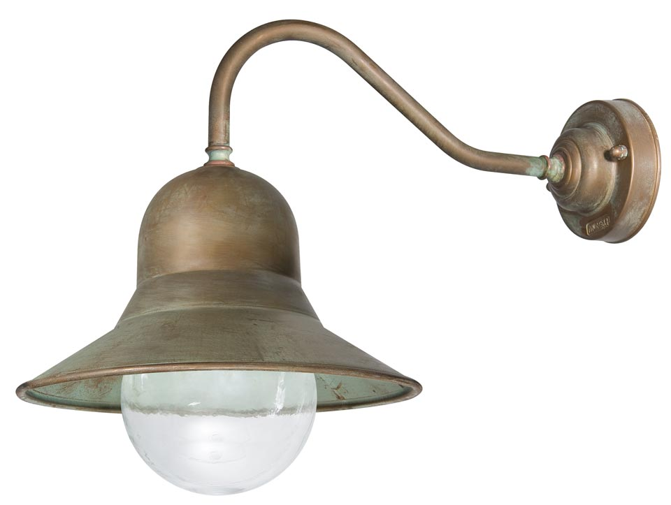 Applique dexterieur forme cloche en laiton vieilli réf. 15090436