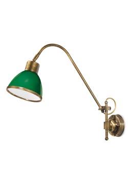 Applique laiton verni verre opale vert . Moretti Luce.