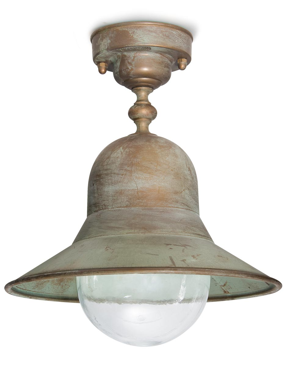 Outdoor Ceiling Light In Aged Brass Ref 15090438