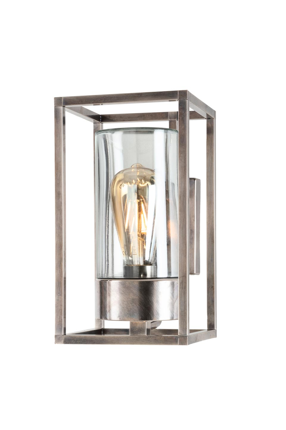 Cubic Wall Mounted Outdoor Lantern In Aged Nickel Ref 20040011