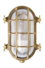 Tortuga outdoor wall light oval porthole clear glass. Moretti Luce.