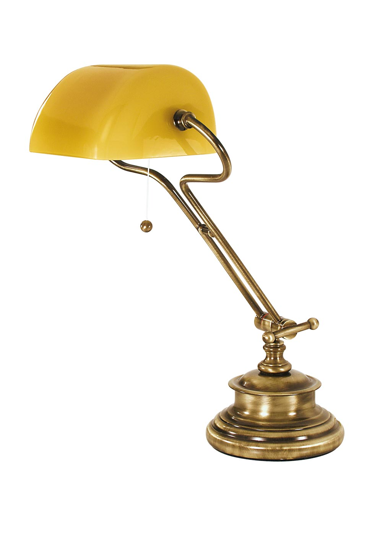 lampe am ricaine de biblioth que jaune en laiton naturel r f 13060288. Black Bedroom Furniture Sets. Home Design Ideas