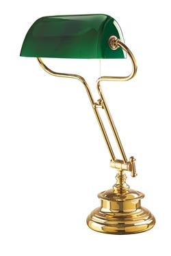 Lampe américaine de bibliothèque verte . Moretti Luce.