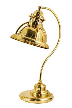 Lampe de marine en laiton poli verni. Moretti Luce.