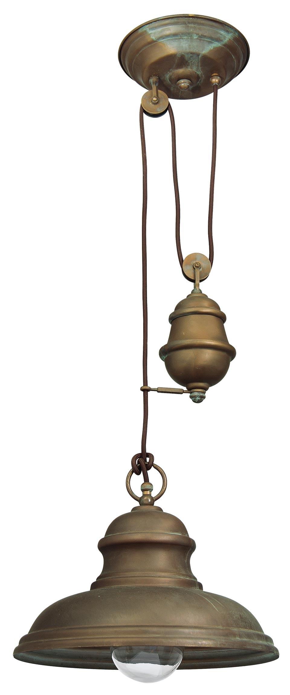 suspension monte et baisse en laiton vieilli r f 15090413. Black Bedroom Furniture Sets. Home Design Ideas