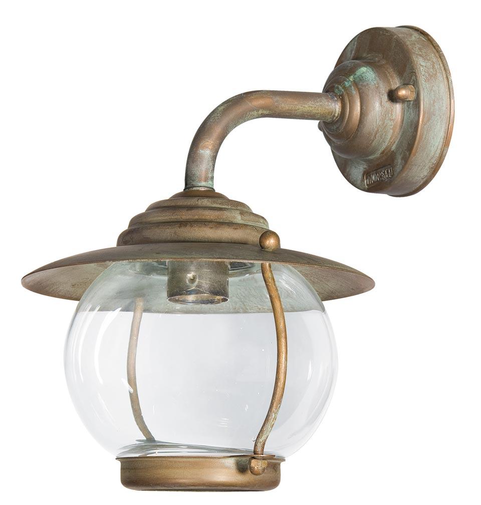 Applique d 39 ext rieur globe en laiton vieilli r f 15090430 for Applique murale exterieur globe