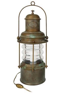 Lanterne de table laiton vieilli rétro. Moretti Luce.
