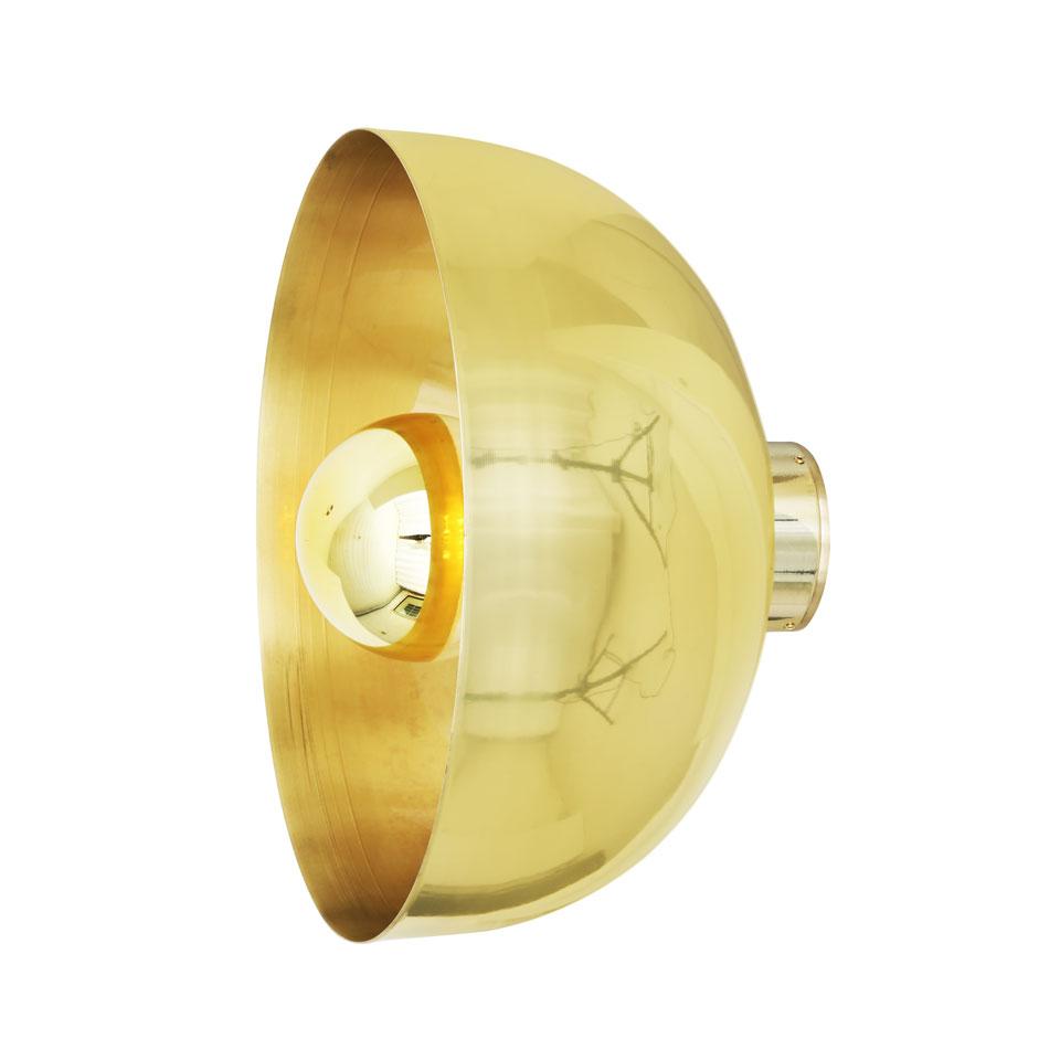 Grande applique demi-sphère dorée Maua 30. Mullan.