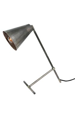 Lampe de bureau en argent antique Havana. Mullan.