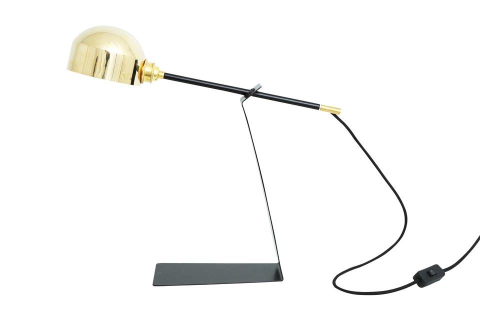Lampe de table noire et dorée Kingston. Mullan.