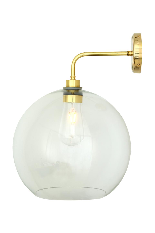 Applique boule en verre transparent pour la salle de bain | Mullan ...
