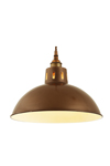 Osson suspension coupole finition laiton antique. Mullan.