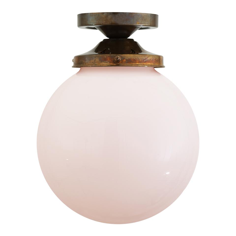 Plafonnier boule en verre opale Yerevan. Mullan.