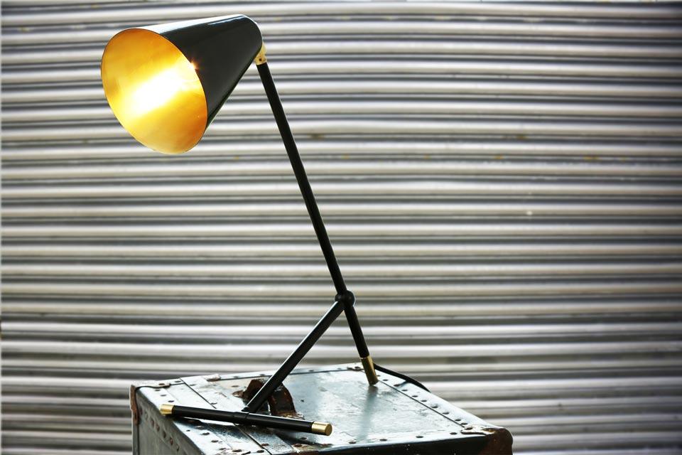 Santa clara lampe de bureau en métal laqué noir mullan réf. 16030245