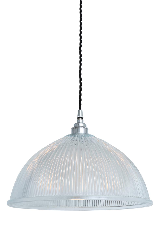 Style industriel, métal chromé coupole en verre prismatique