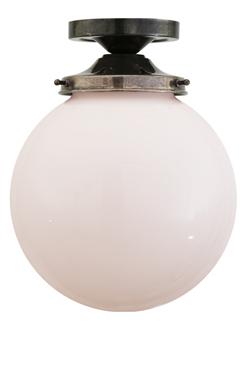 Yerevan boule en verre opale plafonnier. Mullan.