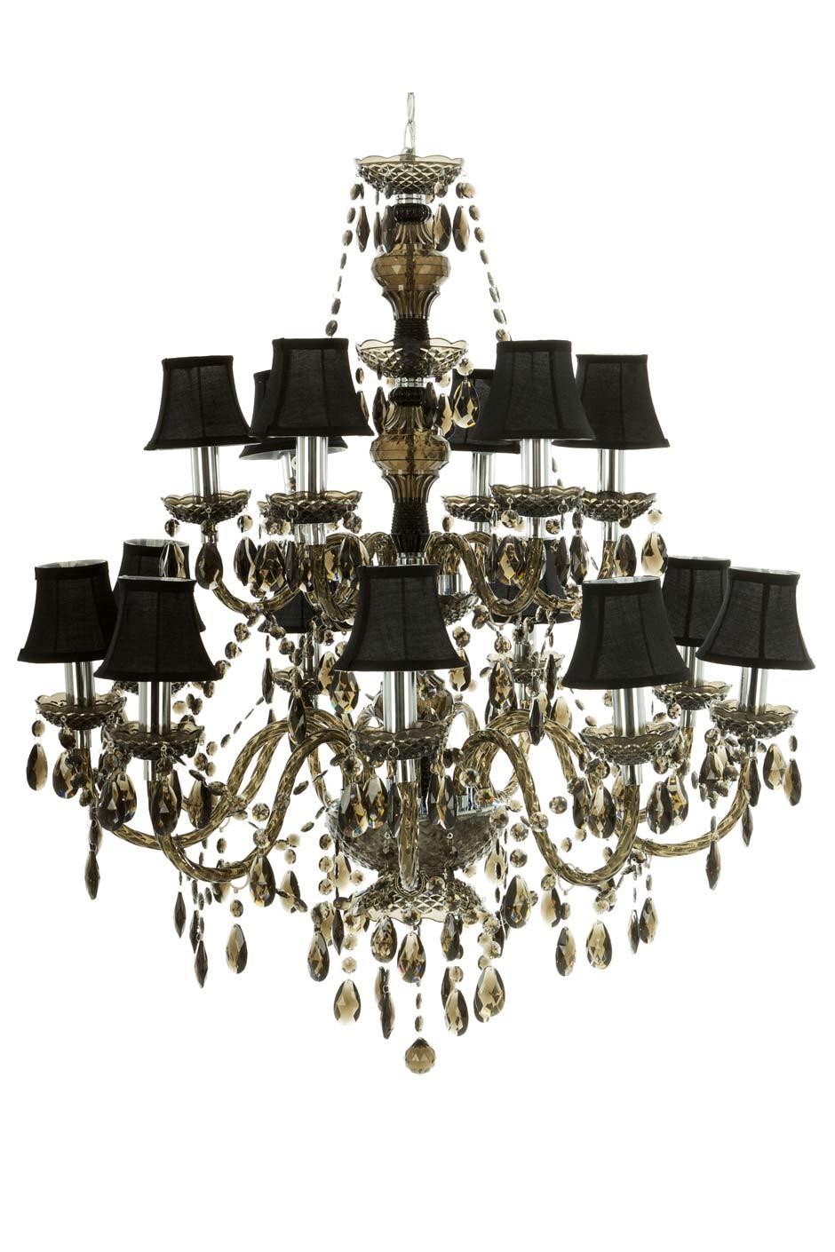 Romeo lustre baroque 15 lumi res noir abat jour noirs par muno r f 11090245 - Lustre baroque noir ...