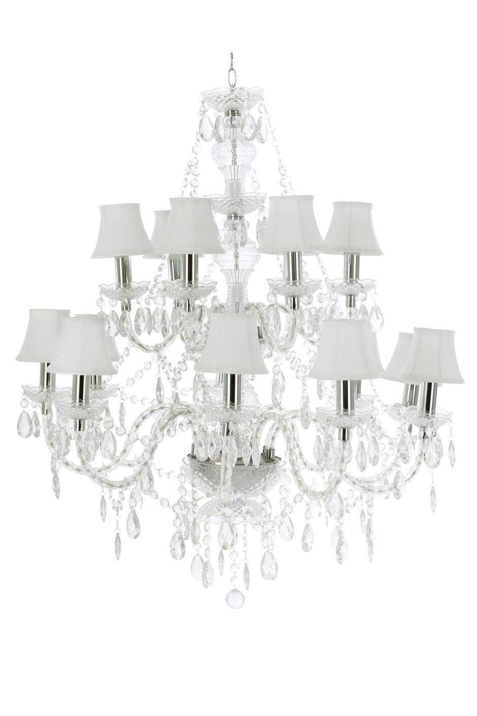 romeo lustre baroque 15 lumi res transparent abat jour. Black Bedroom Furniture Sets. Home Design Ideas