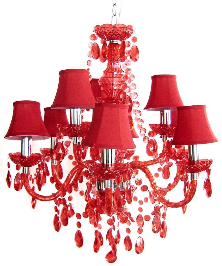 À Acrylique En Lustre Branches Avec 9 Rouge Jours Abat xCorBWde