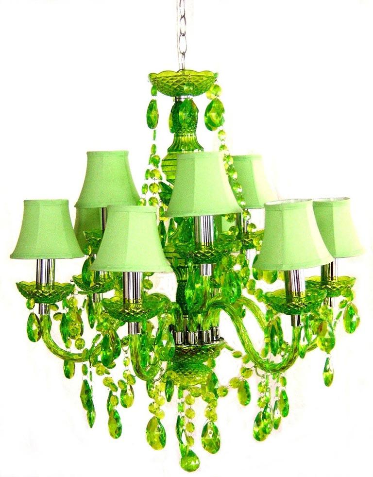 Romeo lustre 9 lumières vert. Muno.