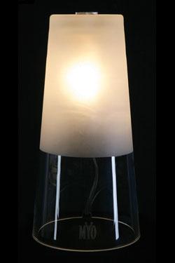 Cone lampe de table mate. Myo.
