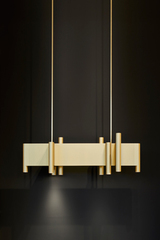 Aldwych suspension en aluminium laqué bronze mat. Nautic by Tekna.