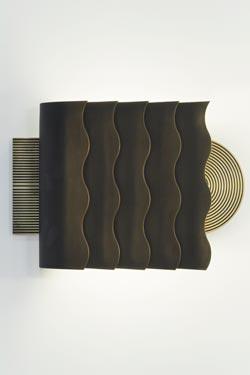 Applique SAL art déco en bronze massif patiné. Nautic by Tekna.