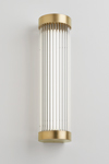 Mercer satin gold Art Deco bathroom wall lamp. Nautic by Tekna.