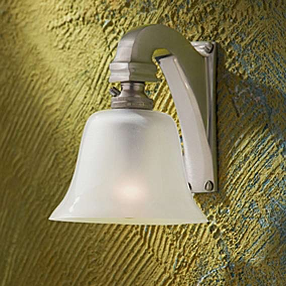 Bell Light 12V applique bronze nickelé mat. Nautic by Tekna.