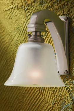 Bell Light 230V applique bronze nickelé mat. Nautic by Tekna.