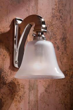 Bell Light 230V applique bronze nickelé poli. Nautic by Tekna.