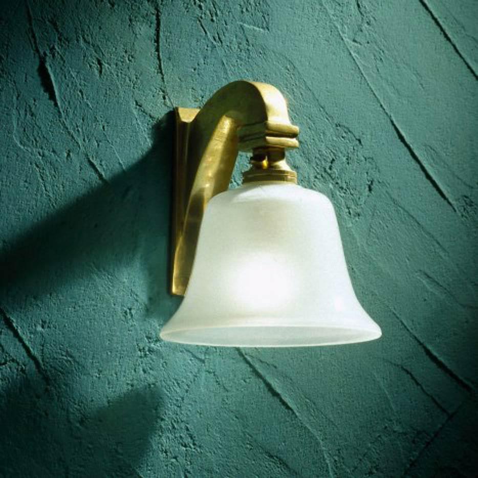 Bell Light 230V applique en bronze poli. Nautic by Tekna.