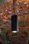 Blackbird suspension spot d'arbre en aluminium anodisé noir. Nautic by Tekna.