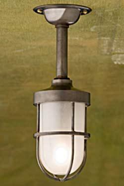 Bounty 12V luminaire de plafond bronze antique verre sablé. Nautic by Tekna.