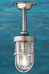 Bounty 12V matt nickel-plated bronze with clear glass. Nautic by Tekna.