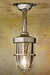 Bounty 12V polished nickel-plated bronze with clear glass . Nautic by Tekna.