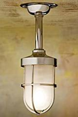 Bounty 12V polished nickel-plated bronze with sand-blasted glass . Nautic by Tekna.