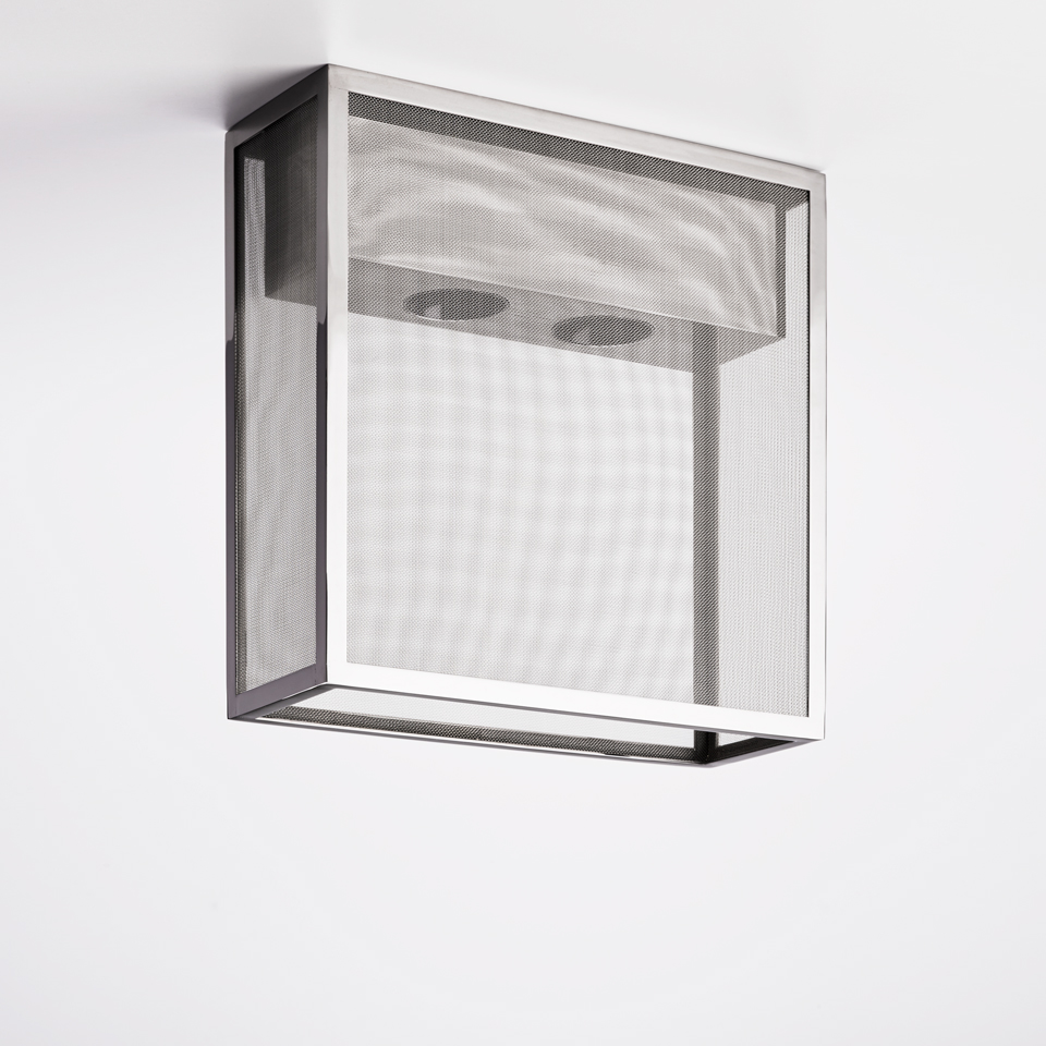 Tribeca A2 chrome metal ceiling light. Nautic by Tekna.