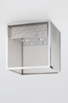 Tribeca A4 chrome metal ceiling light. Nautic by Tekna.