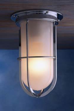 Docklight ceiling plafonnier tanche bronze chrom verre for Plafonnier exterieur terrasse