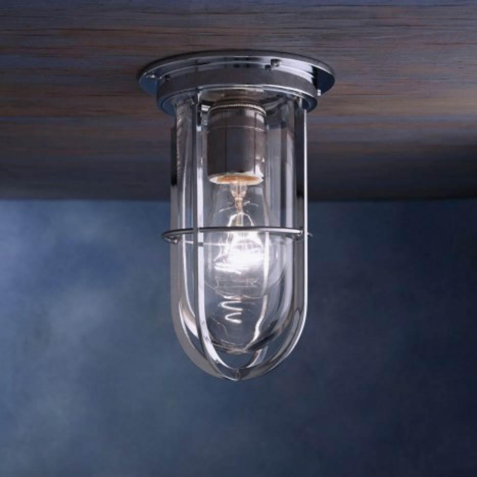 docklight ceiling plafonnier exterieur bronze chrome verre clair marine metal silver design 11060118R 5 Superbe Lampe Plafonnier Exterieur Shdy7