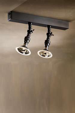 Double spot orientable mur ou plafond bronze vieilli . Nautic by Tekna.