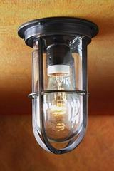 Docklight Ceiling antique bronze with clear glass. Nautic by Tekna.
