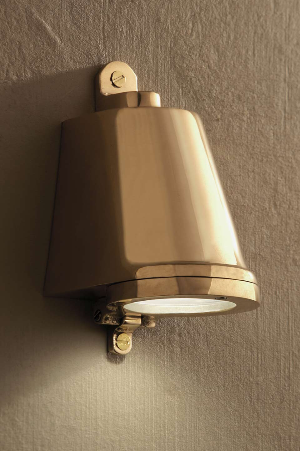 Small Polished Bronze 12v Exterior Wall Step Light