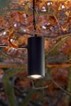Blackbird black anodized aluminum pendant for tree. Nautic by Tekna.