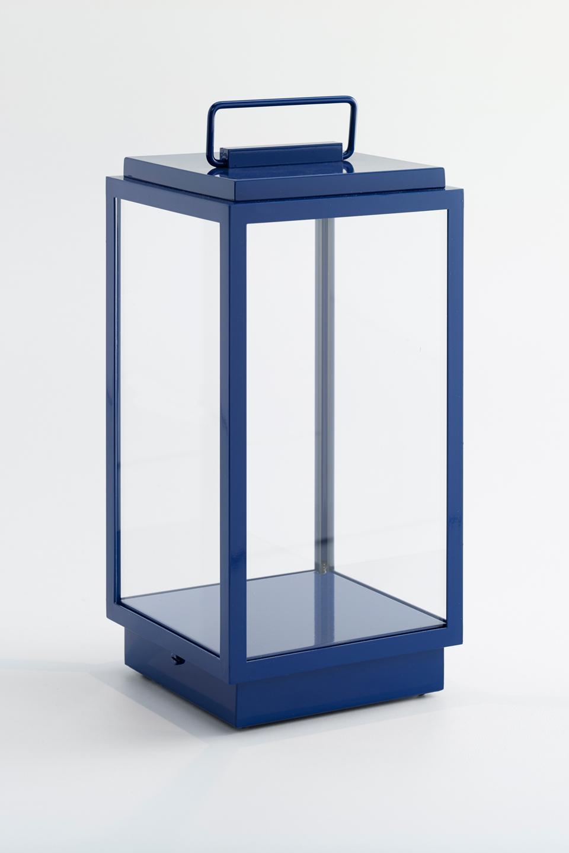 Blakes Outdoor Navy Blue Table Lantern Nautic By Tekna