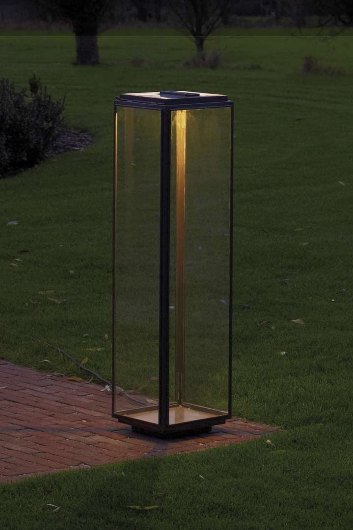 Large Antique Bronze Garden Lamp With Led Nautic By